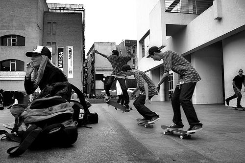 Skaters in Macba